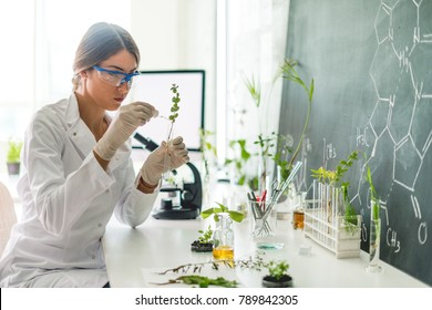 Biologist in her laboratory