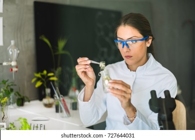 Biologist taking experiment