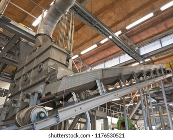 The biomass machine in the plant.