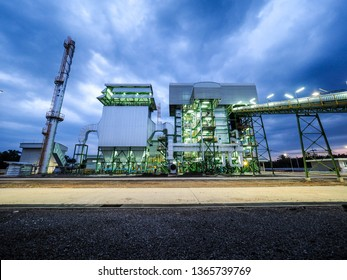 Biomass power plant with industrial energy concept.