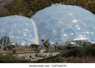 The biomes of the Eden Project, Cornwall, UK, March 2013.