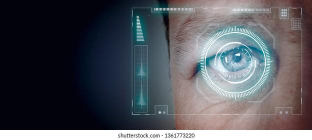 biometric eye retina scan