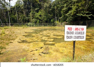 Bioremediation pond for soil contaminated with crude oil
