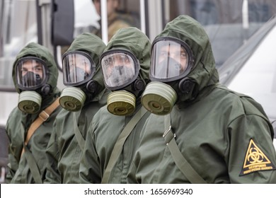 Biosecurity troops in suits to fight viruses