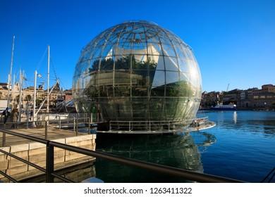 Biosphere. Genoa, Italy - 15 December 2018
