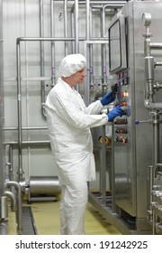 biotechnology technician controlling industrial process