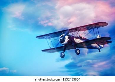 Biplane at an air show , Botswana, Africa