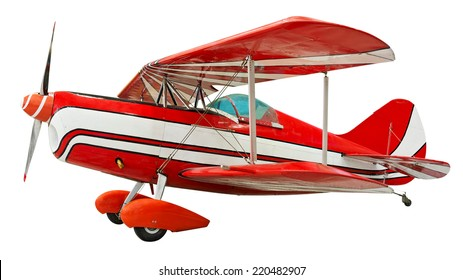 Biplane isolated. Clipping path included.