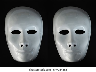 Bipolarity concept expressed with theater masks