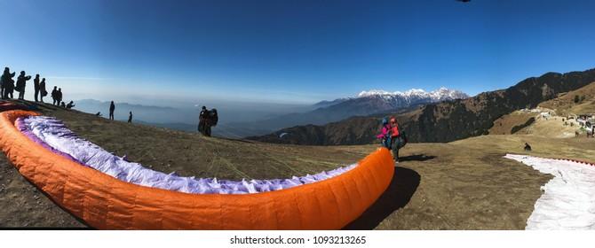 Bir Billing Paragliding spot in India. shot on 28th December 2017.
