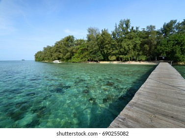 Bira Island, located in one of Thousand Island National Park, Jakarta, Indonesia