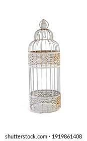 bird cage vintage isolated on white background