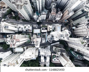 bird eye view of a city