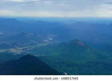 Bird eye view of da nang mountain Vietnam