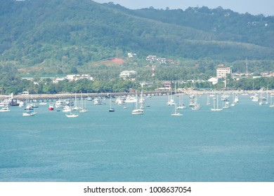 Bird eye View of Phuket Bay, Over view of Chalong bay in Phuket island