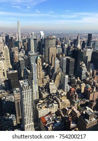 Bird eye View of skyscrapers and downtown Manhattan, New York City, United States of America