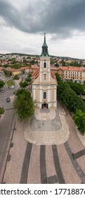 Bird eye view of Szekszard, Bela square