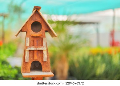 Bird house from wood