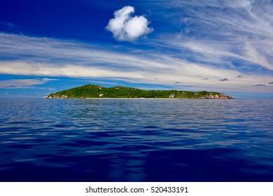 The bird island Aride, Seychelles