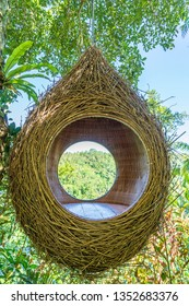 A bird nest recreation area in the jungle near the rice terraces in island Bali, Indonesia . Nature and travel concept