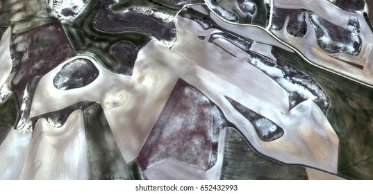 Bird sight,allegory, tribute to Matisse, Picasso, abstract photography of the Spain fields from the air, aerial view, representation of human labor camps, abstract, cubism,abstract naturalism