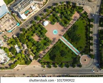 Bird view is the emancipation park in new Kingston Jamaica