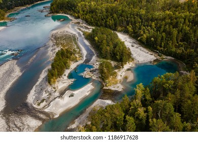 The bird view on the Katun river, Altay, Russia