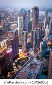 Bird view at Shanghai China.