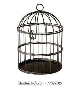 birdcage isolated white background