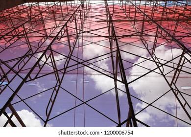 birdcage scaffold screen construction