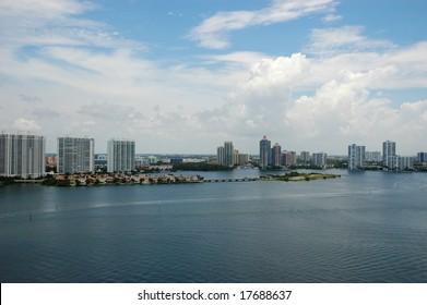 Bird-eye view of the intercoastal, Sunny Isles Beach, Florida