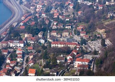 Bird-eye view on Grenoble suburbs. Taken in March 2011.
