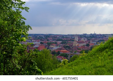 Bird-eye view of Vilnius city. A superb view of the Vilnius city of Lithuania.