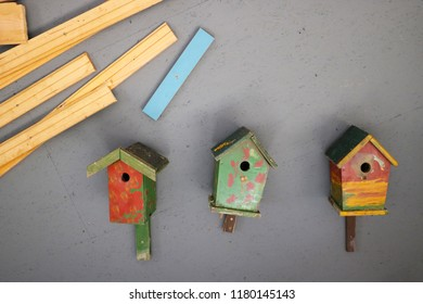 Birdhouses and boards