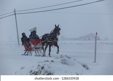 Royalty Free One Horse Open Sleigh Stock Images Photos Vectors