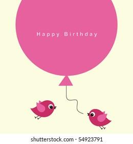 birds with balloon