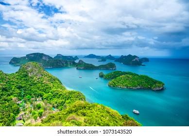Bird's eye view of Ang Thong Marine park