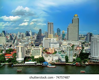 Bird's Eye View of Bangkok from Peninsula Hotel
