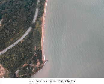 birds eye view of a beach