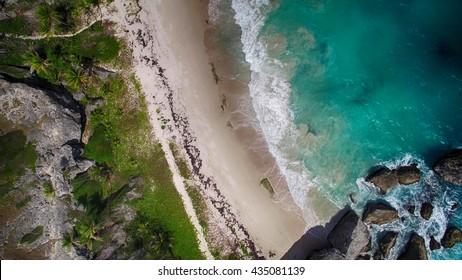 Bird's Eye View of Caribean Beach - HDR
