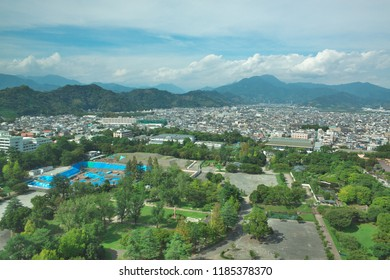 bird's eye view of the city of Shizuoka