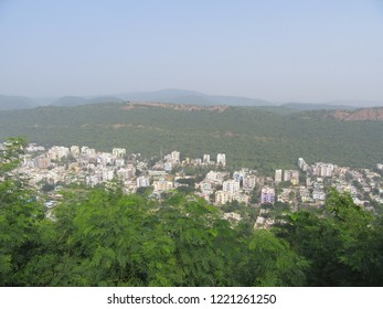 Birds eye view of the city of vizag.