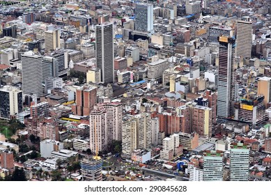 Bird's eye view of Downtown Bogota, Colombia