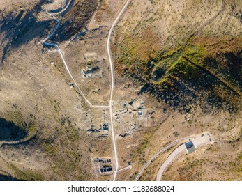 Birds eye view of Finiq Archaeological Park