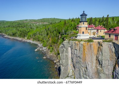 A birds eye view just off the Split Rock cliffs provides a different point of view of Split Rock Lighthouse