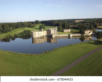 bird's eye view of Leeds castle