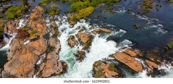 Bird's eye view of liphi waterfall