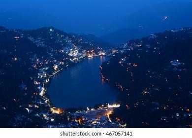 Bird's eye view of Nainital from Naina Peak