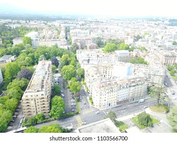 Birds eye view over Geneva