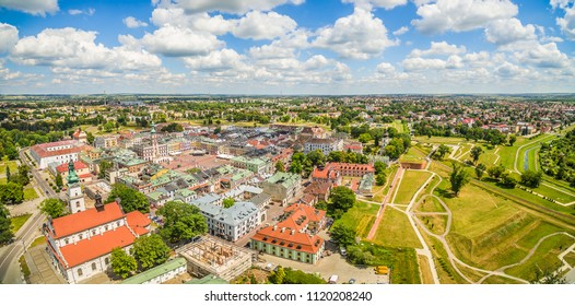 Zamość - A bird's eye view overlooking the old town.